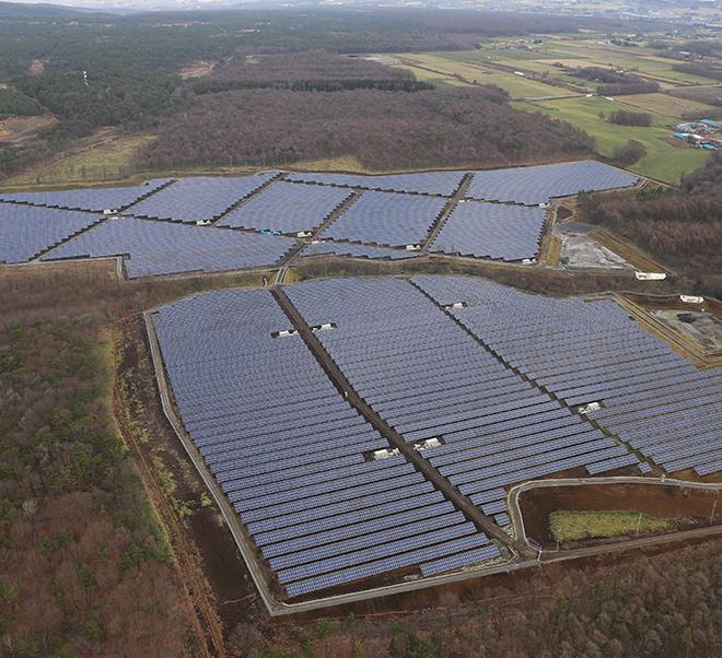 Iwate VITEC Isaribikan Takizawa City Mega Solar Plant